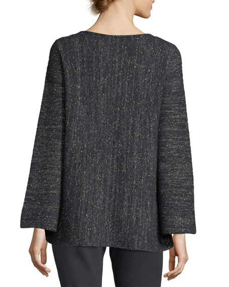 Bateau-Neck Cashmere-Blend A-Line Sweater