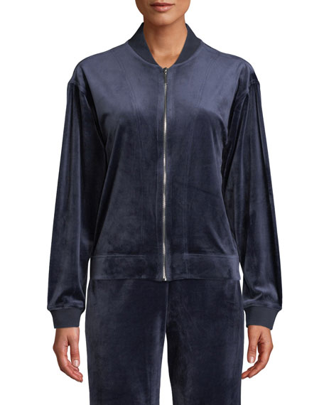 Velour Zip-Front Jacket