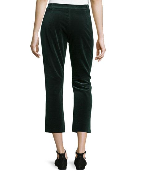 Velvet Cropped Pants