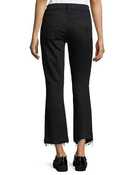 Gia Mid-Rise Cropped Flared Jeans