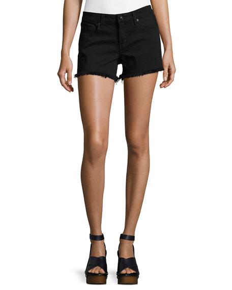 Quinn Mid-Rise Girlfriend Cutoff Shorts
