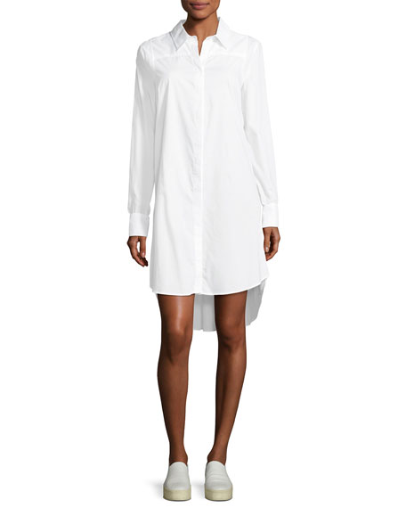 Long-Sleeve Italian Cotton Shirtdress