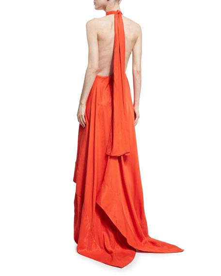 Esme Halter Sleeveless Linen Gown