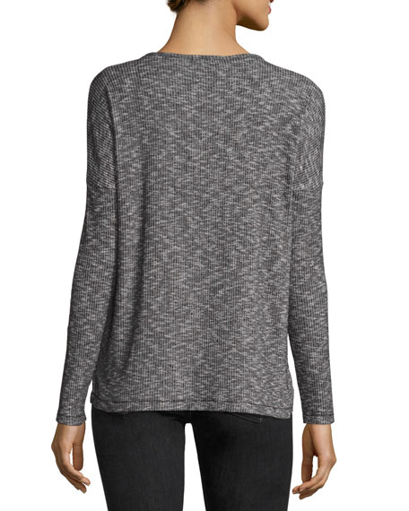 Theo Long-Sleeve V-Neck Top