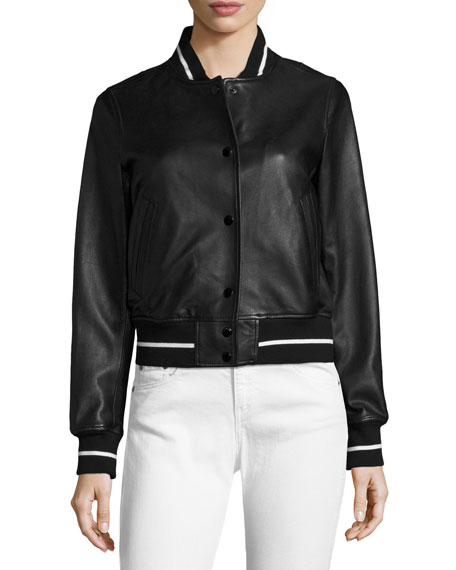 Cooper Leather Bomber Jacket