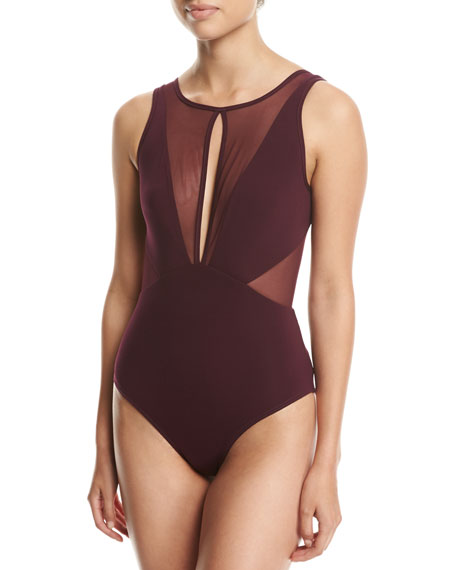 a6fd5d9a340b9 JETS by Jessika Allen Aspire High-Neck One-Piece Swimsuit, Purple