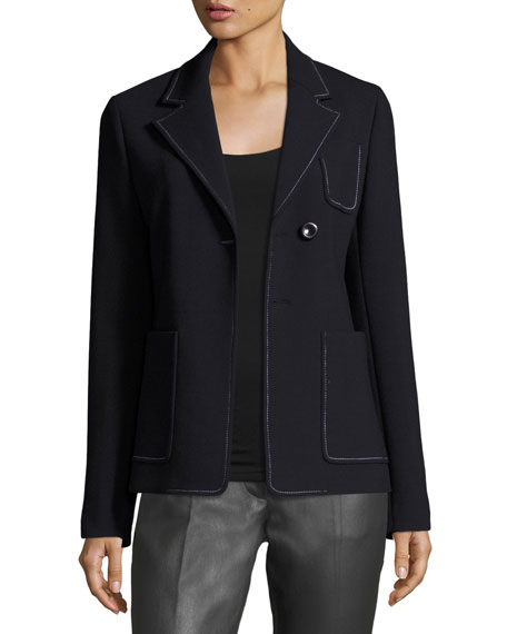 Joseph Osaka Bi-Stretch Wool-Blend Jacket