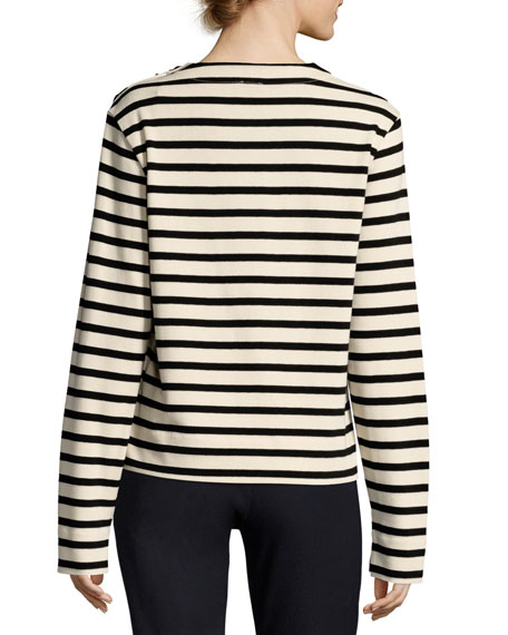 Breton Long-Sleeve Striped Cotton T-Shirt
