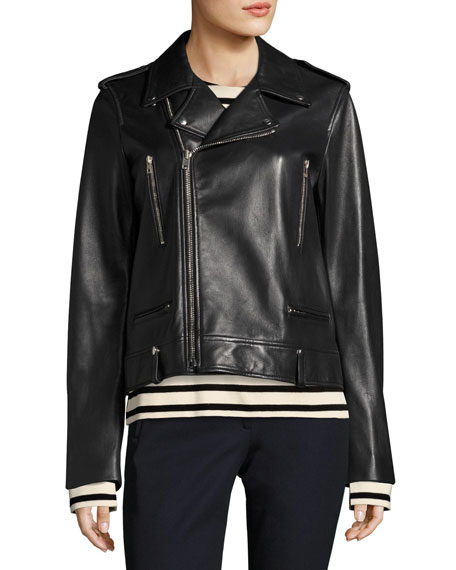 Ryder Leather Biker Jacket