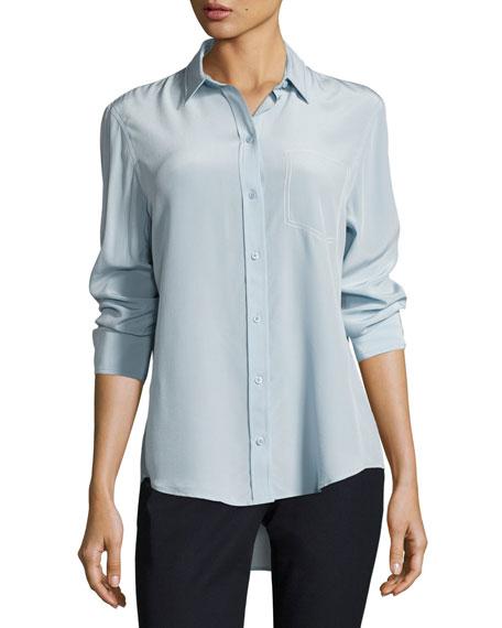 Garcon Long-Sleeve Button-Front Silk Shirt