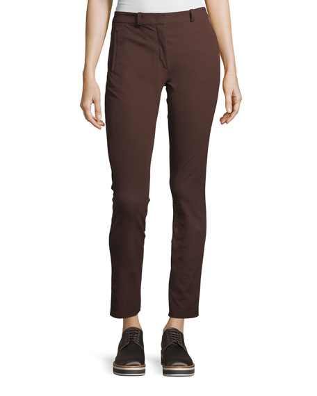 New Elliston Stretch-Gabardine Skinny Ankle Pants