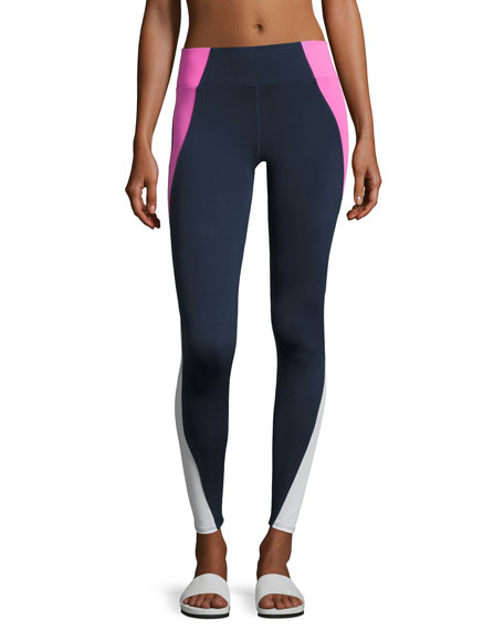 Tread High-Waist Leggings, Blue/Pink
