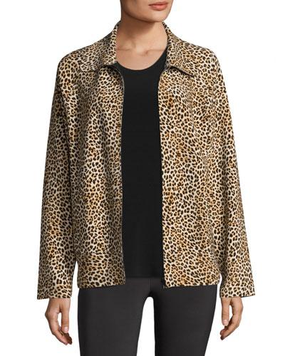 Leopard-Print Bomber Jacket