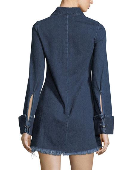 Janis Fringed Denim Shirtdress