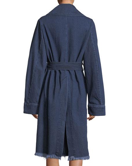 Belted Denim Trenchcoat