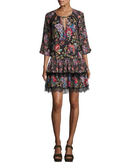 Lakita Raglan Tiered Tunic Dress