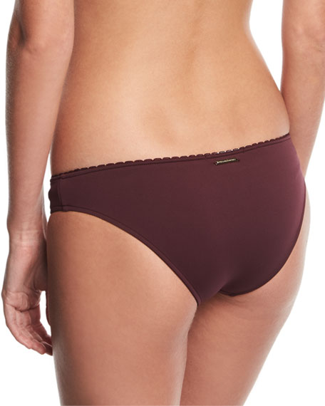 Classic Bikini Swim Bottom w/ Embroidery