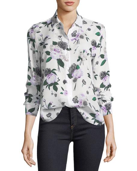 Leema Floral-Printed Silk Blouse