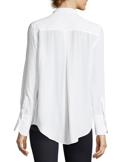 6655254197e1a Equipment Janelle Collared Long-Sleeve Silk Blouse