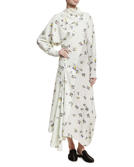 Dragica Floral-Print Voile Dress