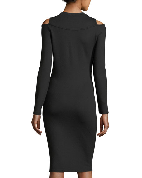Ballerina Long-Sleeve Fitted Jersey Dress