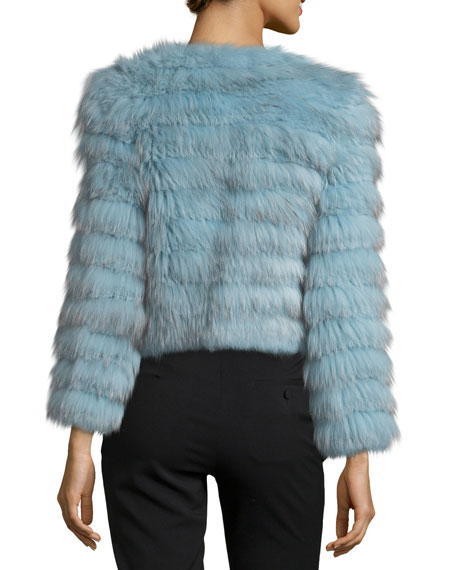 Fawn Fox Rabbit Fur Cropped Jacket
