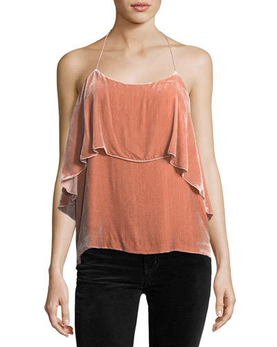 Marybeth Layered Velvet Halter Top