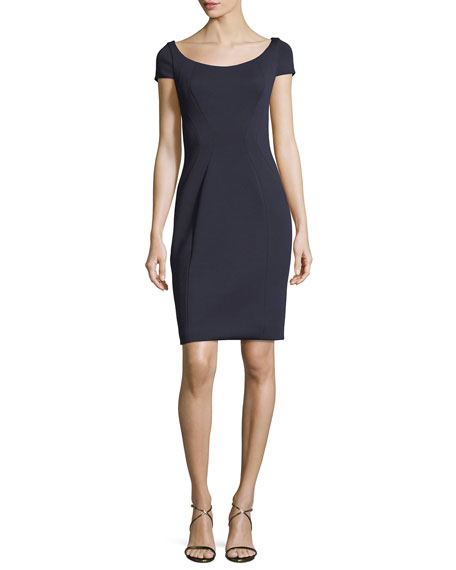 Elie Tahari Bernice Short-Sleeve Fitted Dress