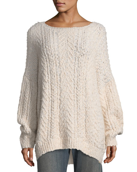 b87662cbeafb65 Vince Cable-Knit Boat-Neck Sweater