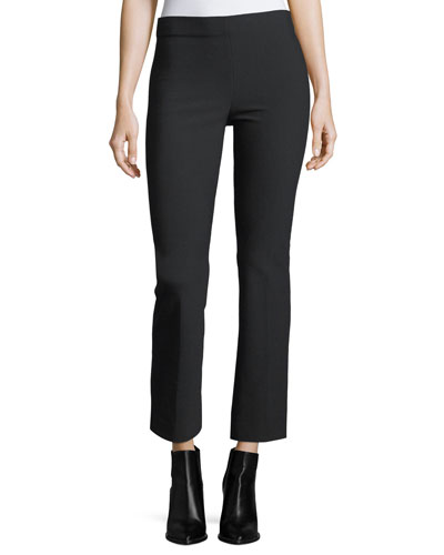 Flared Crop Ponte Legging Pants