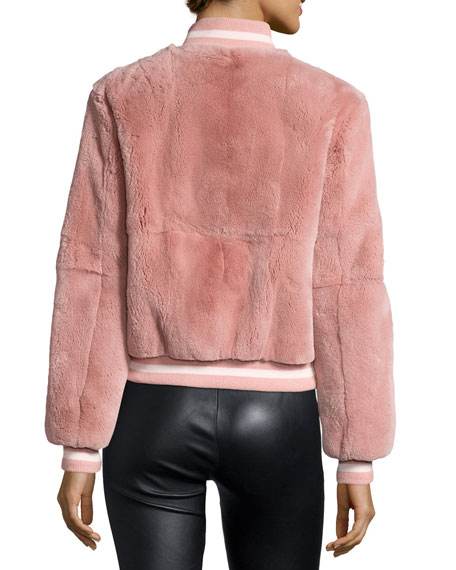 Ellington Fur Bomber Jacket