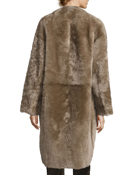 Reversible Elongated Reversible Shearling Coat