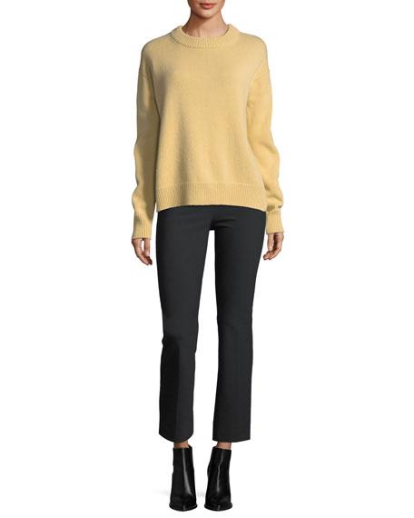 Boxy Crewneck Cashmere Sweater