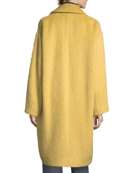 Shaggy Alpaca Car Coat