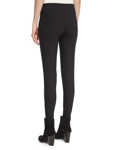 Skinny Stirrup Pants, Black