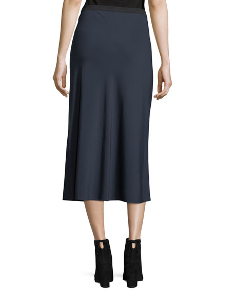 A-Line Elastic Crepe Slip Skirt