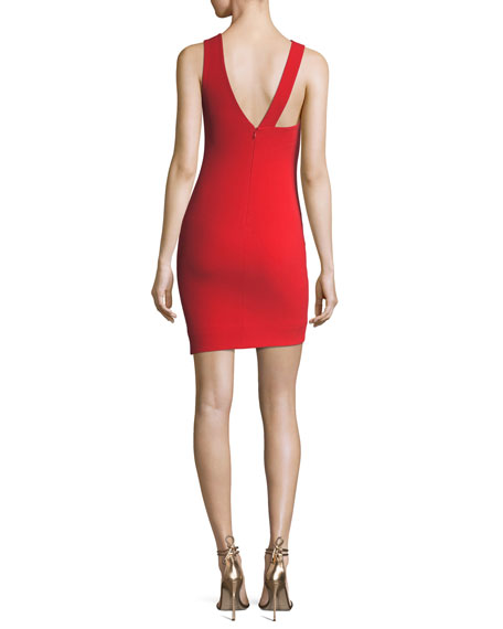 Glenchester Sleeveless Asymmetric Cocktail Sheath Dress