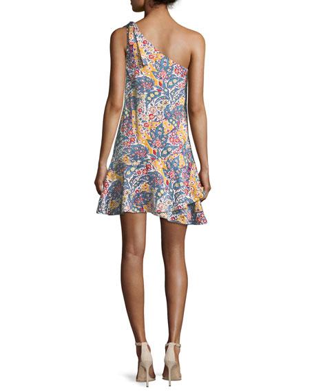 Archer Asymmetric One-Shoulder Satin Dress
