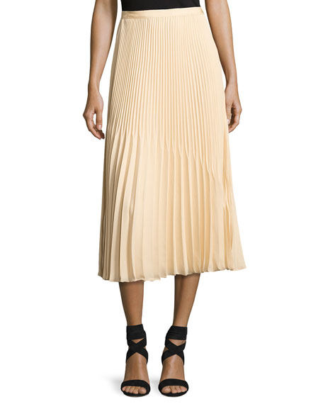Yolanda Sunburst Pleated A-Line Skirt