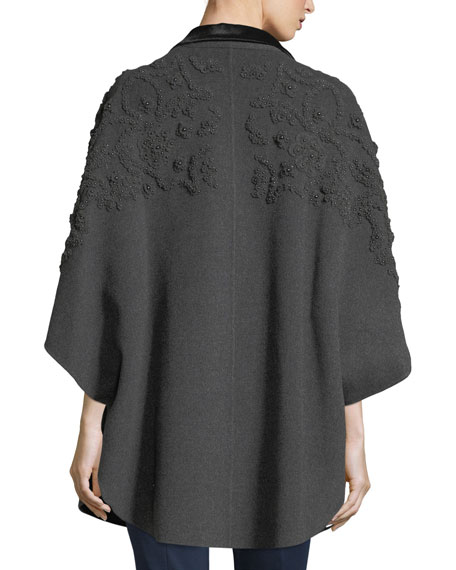 Elsy Embroidered 3/4-Sleeve Coat
