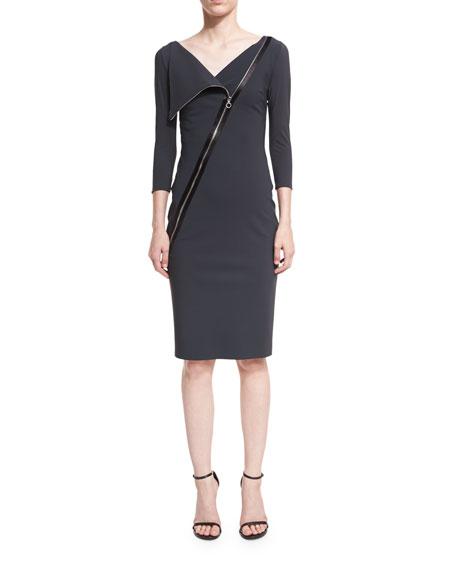 Chiara Boni La Petite Robe Dianthe 3/4-Sleeve Asymmetric