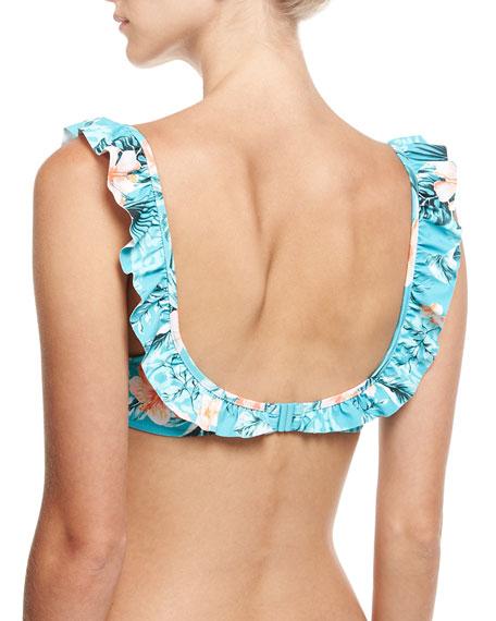 Pacifico Ruffled Bralette Swim Top