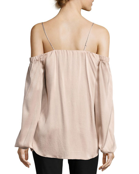 Vivien Button Down Satin Top