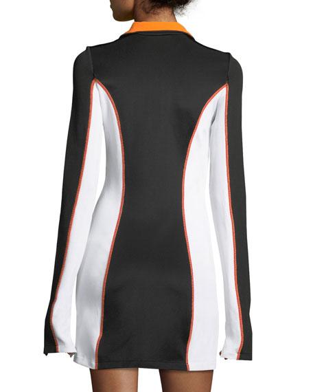 Half-Zip Athleisure Mini Dress