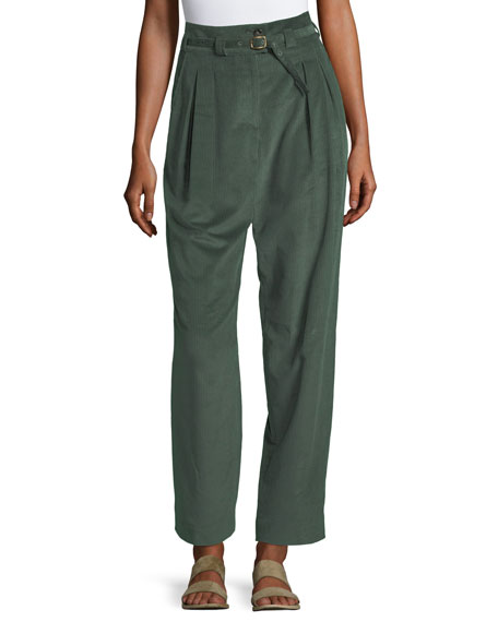 Joan Pleated Corduroy Pants