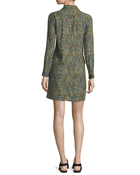 Nicole Floral-Print Shirtdress