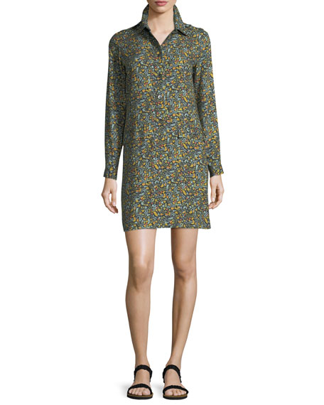 Nicole Floral-Print Shirtdress