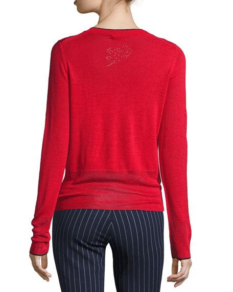 Adriana Pointelle Sweater