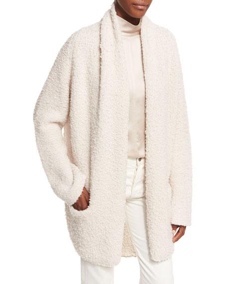 Drape Front Merino Wool Cardigan Sweater
