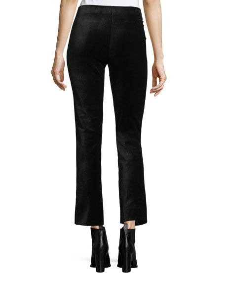Velvet Cropped Flared Leggings